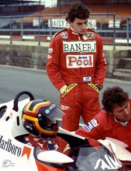 """Stefan Bellof und Ayrton Senna   © Buch """"Stefan Bellof"""" Delius Klasing Verlag"""
