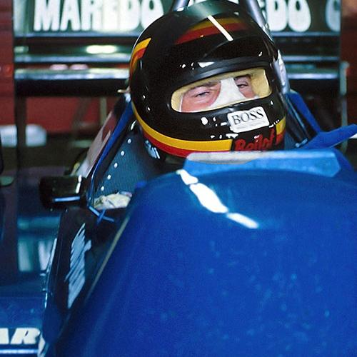 Formel 1 Testfahrt Nürburgring 1985 Tyrrell Renault Turbo   © Michael Schäfer, Hüttenberg