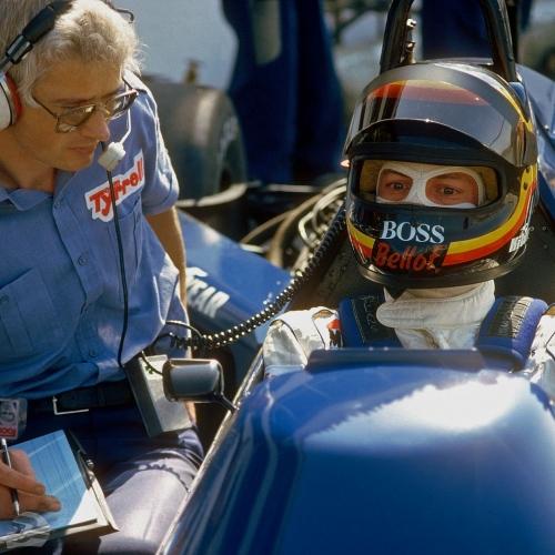 Stefan Bellof und Ken Tyrrell, Testfahrt Paul Ricard 1985   © Ferdi Kräling Motorsport-Bild GmbH