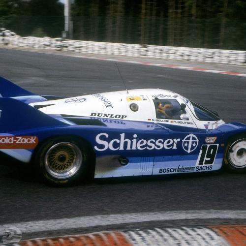 Stefan Bellof auf Porsche 956 KH in Spa 1985 , Kurve la Source | © Porsche AG
