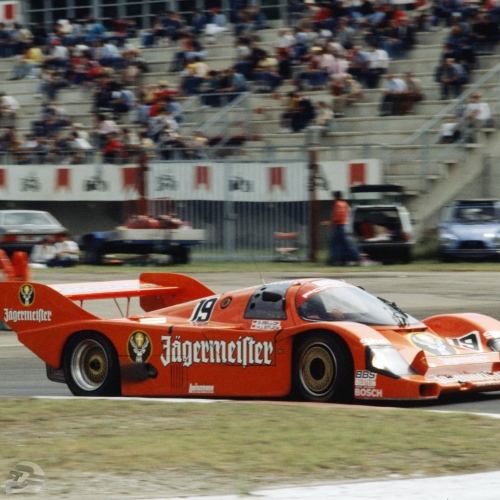 1000km Imola 1984 (Gesamtsieger), Brun Jägermeister-Porsche, Bellof und Stuck | © Porsche AG