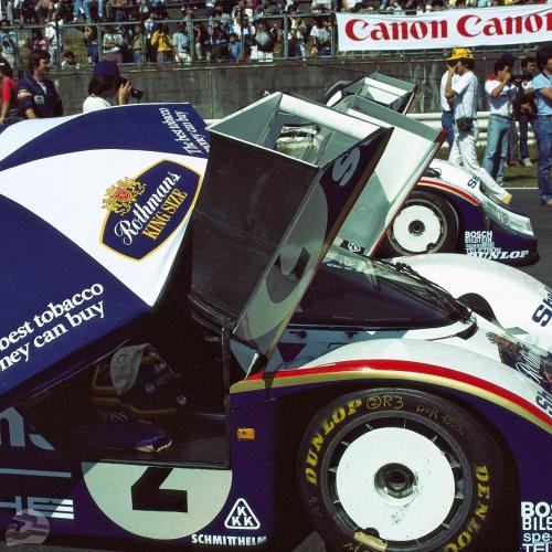 1000 km von Fuji am 30.09.1984, Startaufstellung | © Porsche AG
