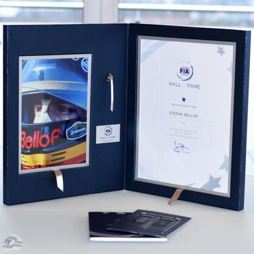 FIA Hall of Fame Urkunde | © Stefan Bellof Official