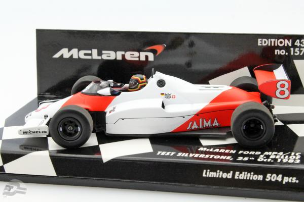 Stefan Bellof McLaren MP4/1C #8 test Car Silverstone 1983