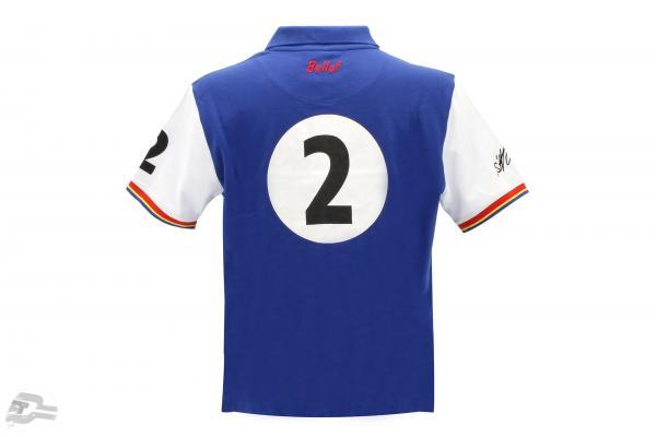 Stefan Bellof Polo-Shirt Rekordrunde 6:11.13 min blau / weiß
