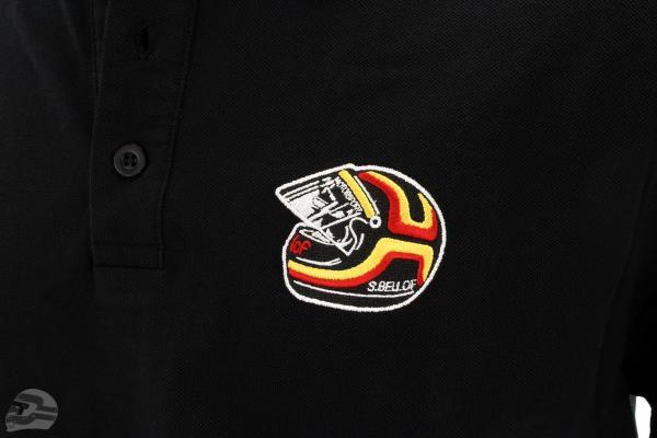 Stefan Bellof Polo-Shirt ''Helm'' Classic Line schwarz