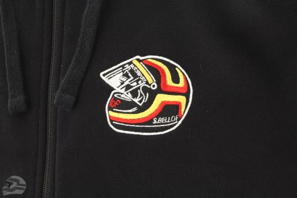 Stefan Bellof Sweat jacket helmet Classic Line black / red / yellow