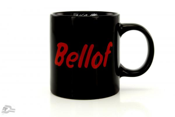 "Stefan Bellof coffee mug ""helmet"" black"