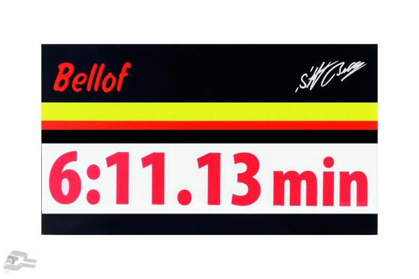 Stefan Bellof sticker record lap 6:11.13 min red 120 x 25 mm