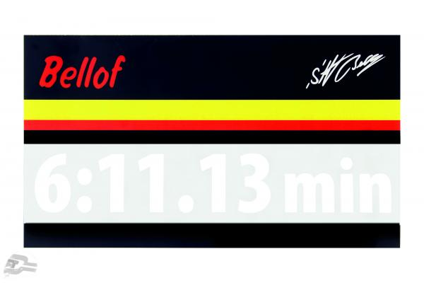 Stefan Bellof sticker record lap 6:11.13 min white 200 x 35 mm