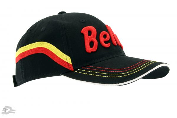"Stefan Bellof Cap ""helmet"" Classic Line black / red / yellow"