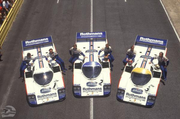 Rennen Kyalami 1983; Porsche Typ 956 KH, Porsche Rennfahrer v.r.n.l.: Vern Schuppan, Al Holbert, Stefan Bellof, Derek Bell, Jochen Mass, Jacky Ickx | © Porsche AG AG