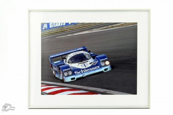 Image: Stefan Bellof Porsche 956 #19 1000km Spa 1985 format 40 x 50 cm Incl. frame