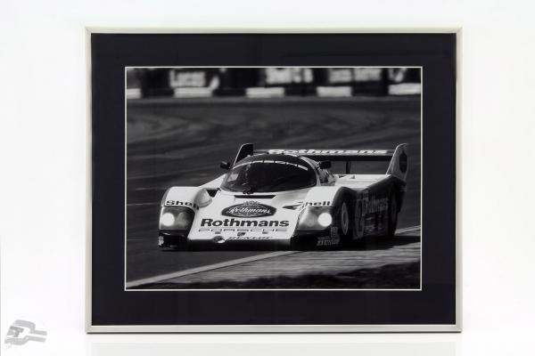 Bild: Stefan Bellof Porsche 956K  #2 Format 40 x 50 cm inkl. Rahmen