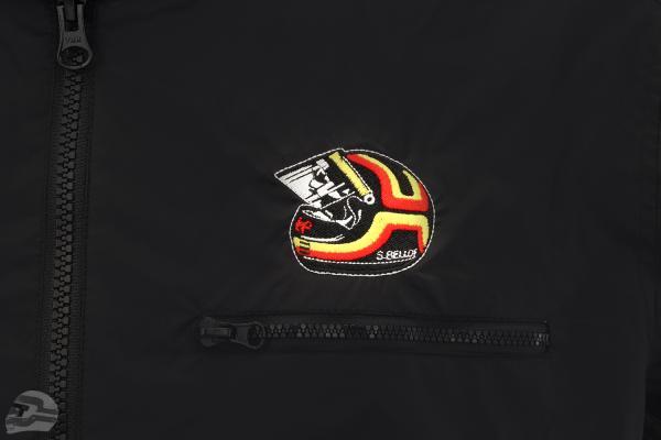 Stefan Bellof Racing Jacke Helm schwarz / rot / gelb