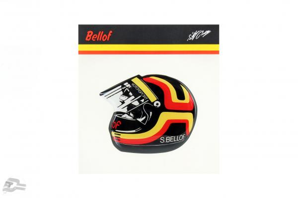 Stefan Bellof sticker helmet 80 x 65 mm