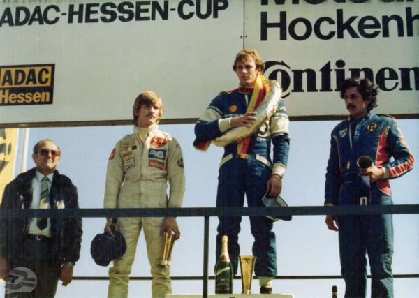 Formel 3 Siegerehrung Hockenheim 1981, 1. Platz | © Familie Bellof