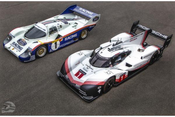 Der Klassiker (Porsche 956) und der Moderne (Porsche 919 Hybrid) | © Porsche AG
