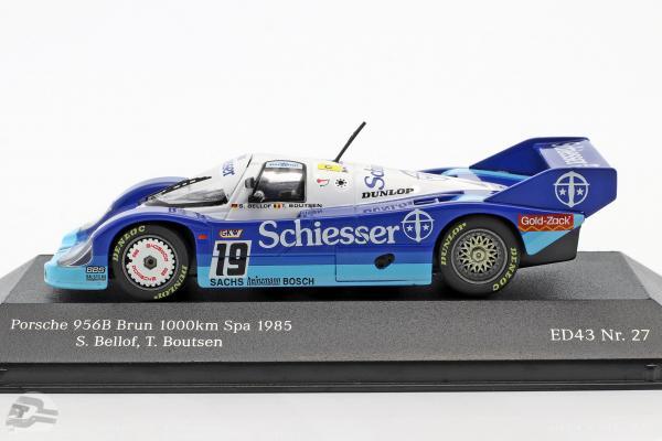 Porsche 956 B Brun #19 1000km Spa 1985 Bellof, Boutsen