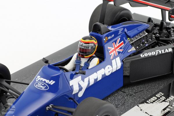 Stefan Bellof Tyrrell 012 #4 Brazil GP formula 1 1984 with Cap