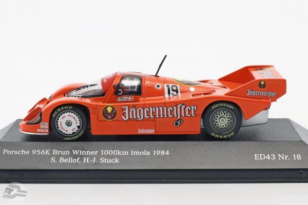 Porsche 956 B Jägermeister #19 Winner 1000km Imola 1984 Stuck, Bellof