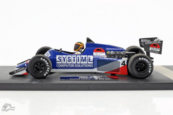 S. Bellof Tyrrell 012 #4 GP Zandvoort Formel 1 1984 mit Cap