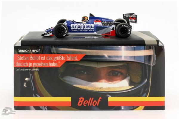 S. Bellof Tyrrell 012 #4 GP Zandvoort formula 1 1984 with Cap
