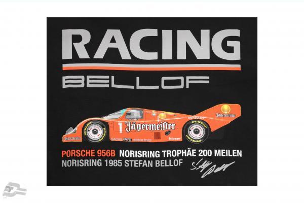 Stefan Bellof Porsche 956B T-Shirt Norisring trophy 200 miles Norisring 1985 schwarz
