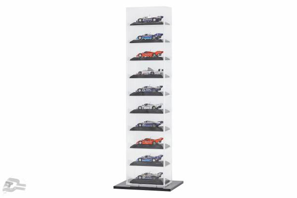 Tower Vitrine with baseplate 10 model cars Stefan Bellof Collection