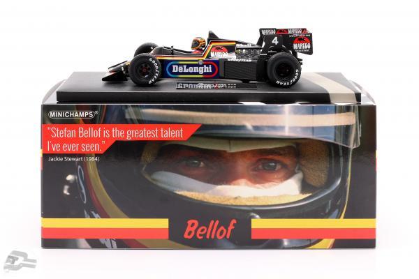 Stefan Bellof Tyrrell 012 #4 Monaco GP Formel 1 1984 mit Cap