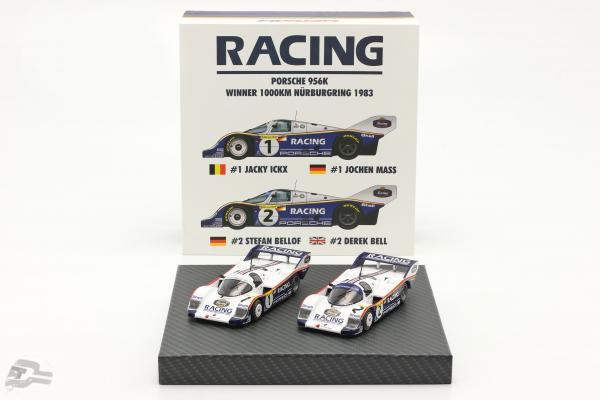 2-Car Set Porsche 956K #1 & #2 1000km Nürburgring 1983