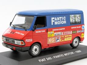 Fiat 242 Fantic Motor Baujahr 1980 rot / blau 1:43 Altaya