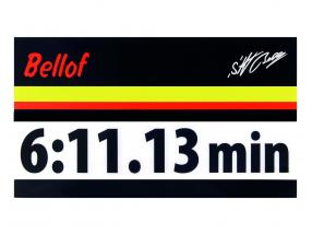Stefan Bellof sticker record lap 6:11.13 min black 120 x 25 mm