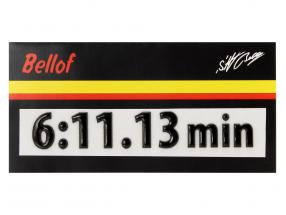 Stefan Bellof 3D sticker record lap 6:11.13 min black 120 x 25 mm