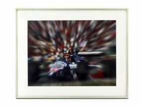 Bild: Stefan Bellof Tyrrell Formel 1 Format 40 x 50 cm inkl. Rahmen