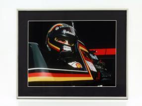 Bild: Stefan Bellof Tyrell Ford 012 Formel 1 1984 Format 40 x 50 cm inkl. Rahmen