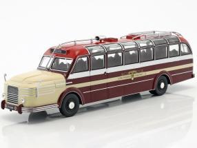 Krupp Titan 080 bus year 1951 dark red / beige 1:43 Ixo