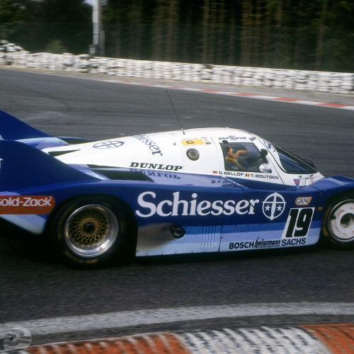 Stefan Bellof auf Porsche 956 KH in Spa 1985 , Kurve la Source | © Porsche AG