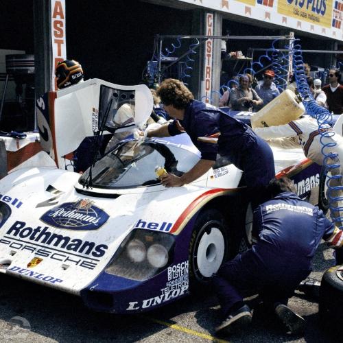 Monza 1984, Fahrer: Stefan Bellof und Derek Bell, Sieger des Rennens | © Porsche AG