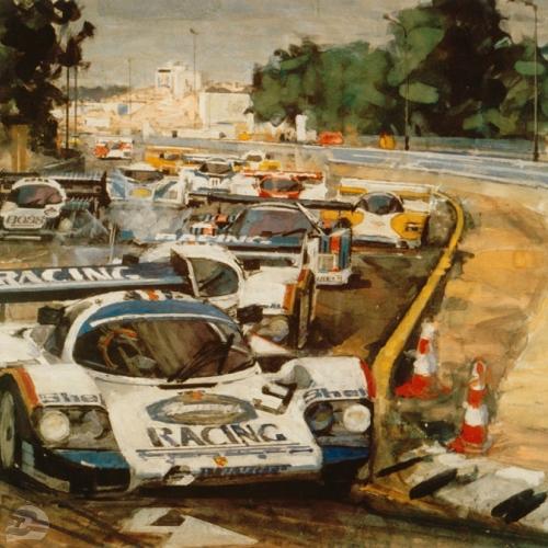 Gemälde: Stefan Bellof im Porsche 956 | © Walter-Heinz Glaß